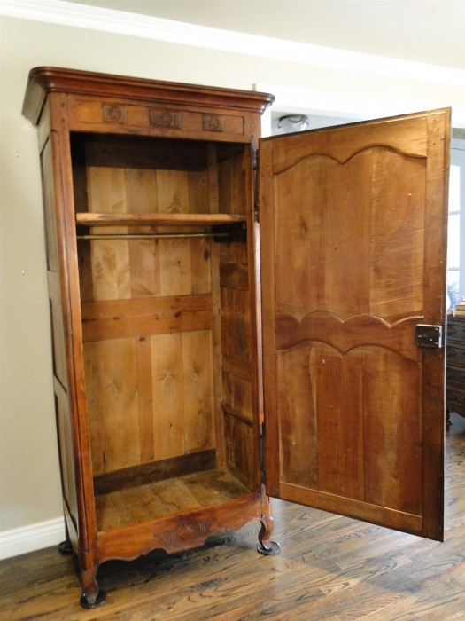 Antique Country French Armoire Wardrobe Closet Provincial