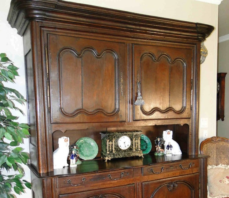Antique Kitchen Hutch And Buffet: Antique Country French Hutch Buffet Server Sideboard