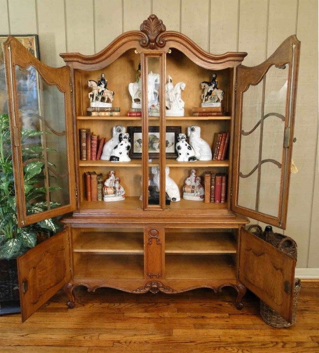 Antique French CURIO CHINA Display CABINET Provincial ...