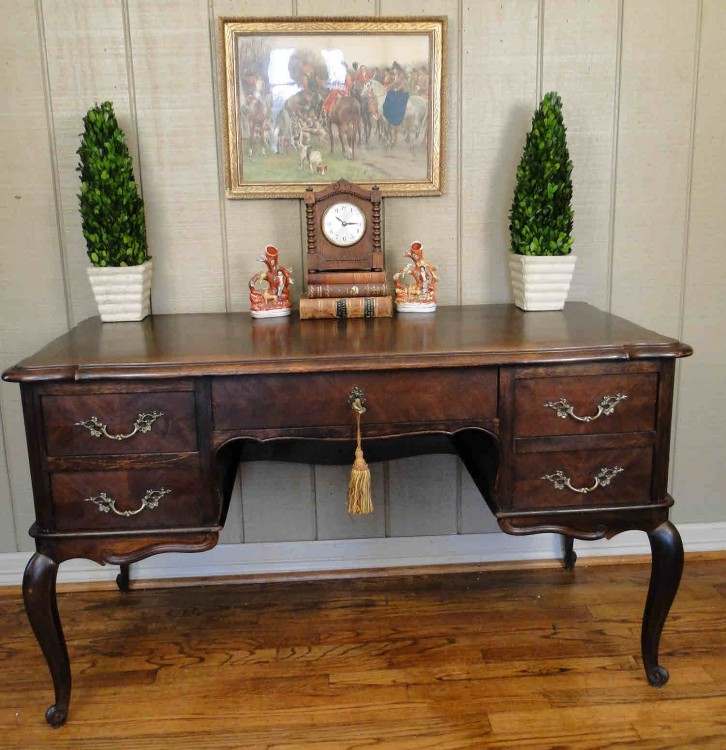 Antique French Country Desk Writing Secretary Louis XV