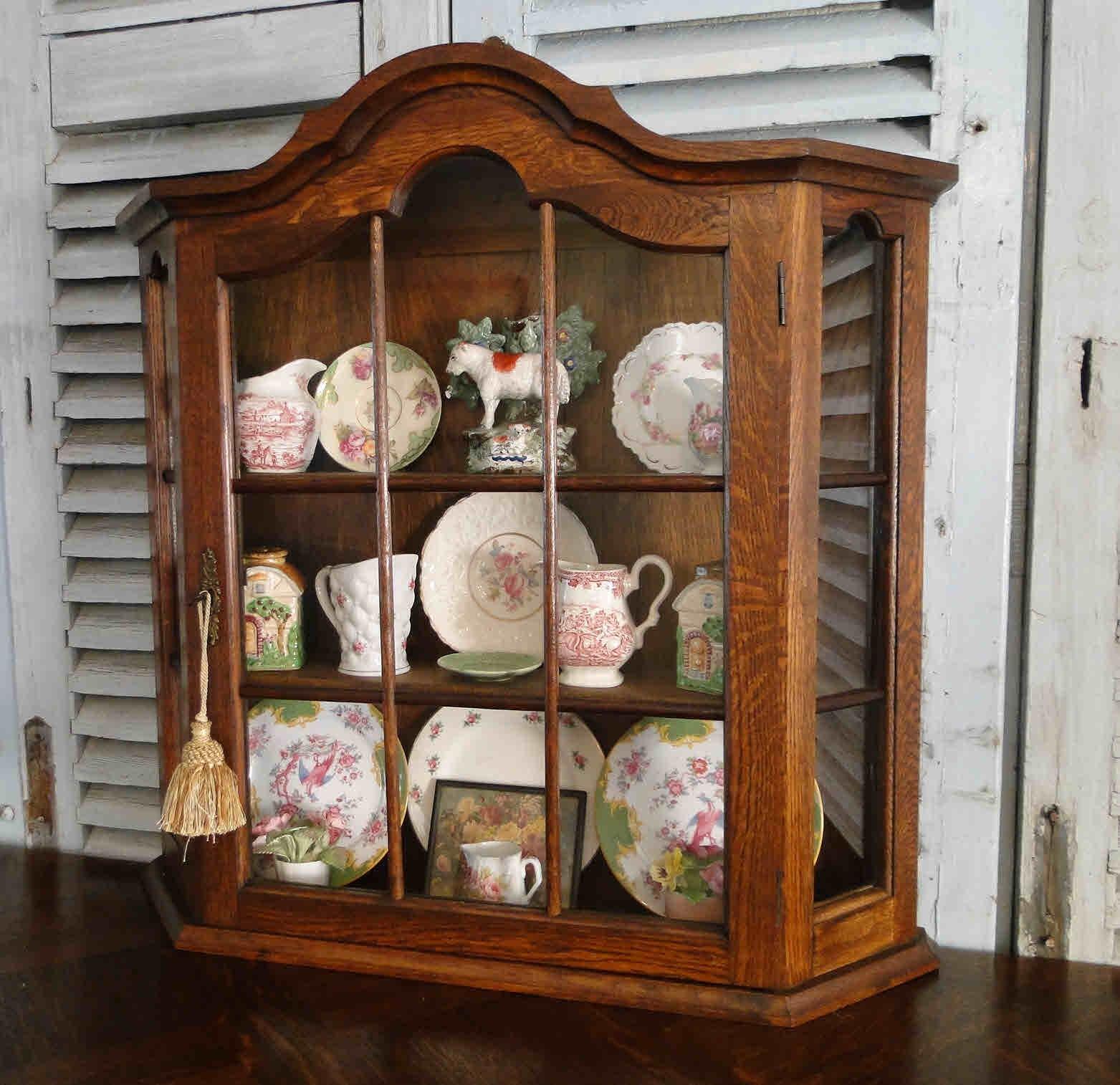 vintage wall curio cabinet eBay